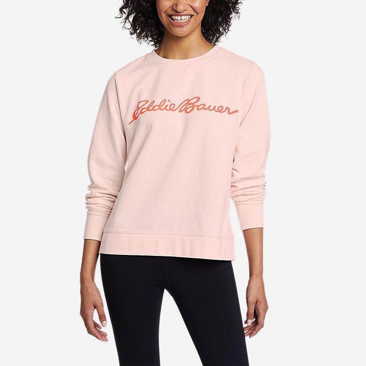 Women's Camp Fleece Logo Crew Sweatshirt large version