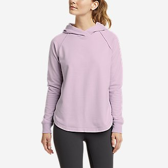 Thumbnail View 1 - Women's Camp Fleece Shirttail Hem Hoodie