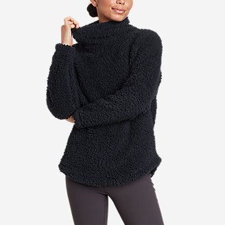 Thumbnail View 1 - Women's Campfire Plush Pullover Shirttail Funnel Neck