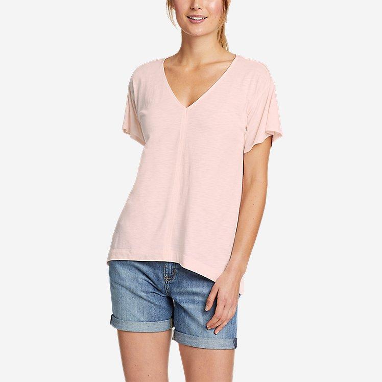 Women's Concourse Flutter-Sleeve Shirt large version