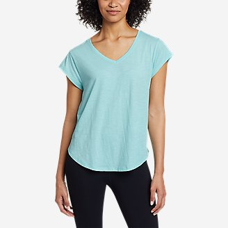 Thumbnail View 1 - Women's Tryout Short-Sleeve V-Neck T-Shirt - Solid