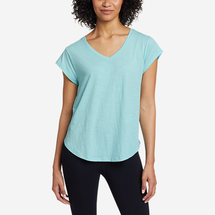 Women's Tryout Short-Sleeve V-Neck T-Shirt - Solid large version
