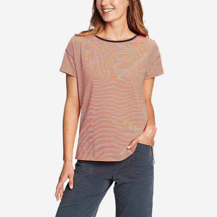 Women's Coast and Climb Short-Sleeve Boat-Neck T-Shirt large version