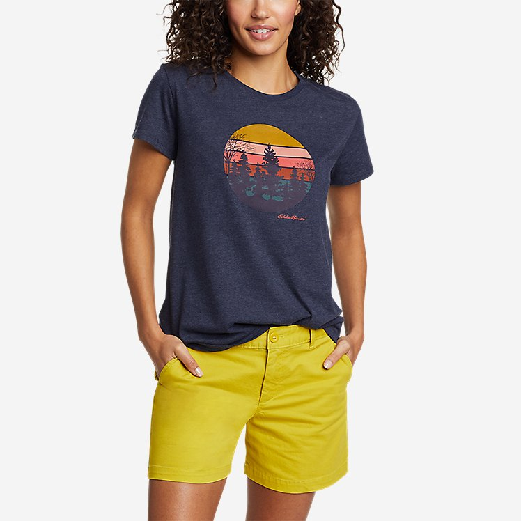 Women's Graphic T-Shirt - Mountain Scene large version