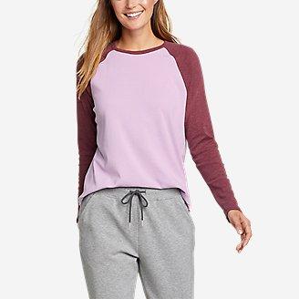 Thumbnail View 1 - Women's Favorite Raglan Color-Blocked T-Shirt