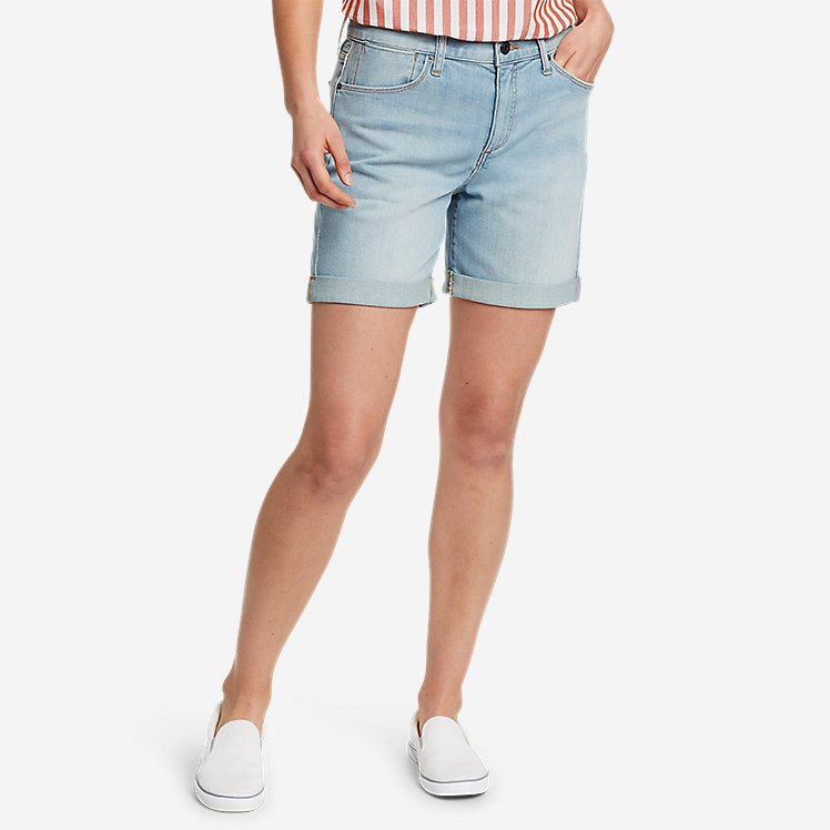 Women's Boyfriend Denim Shorts large version