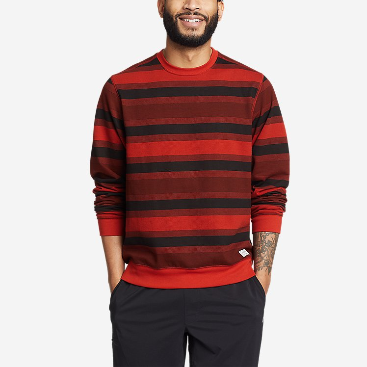 Men's Everyday Fleece Printed Crewneck Sweatshirt large version