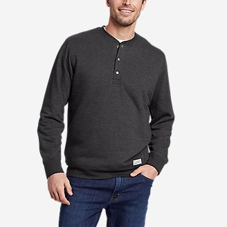 Thumbnail View 1 - Men's Everyday Fleece Sherpa-Lined Henley