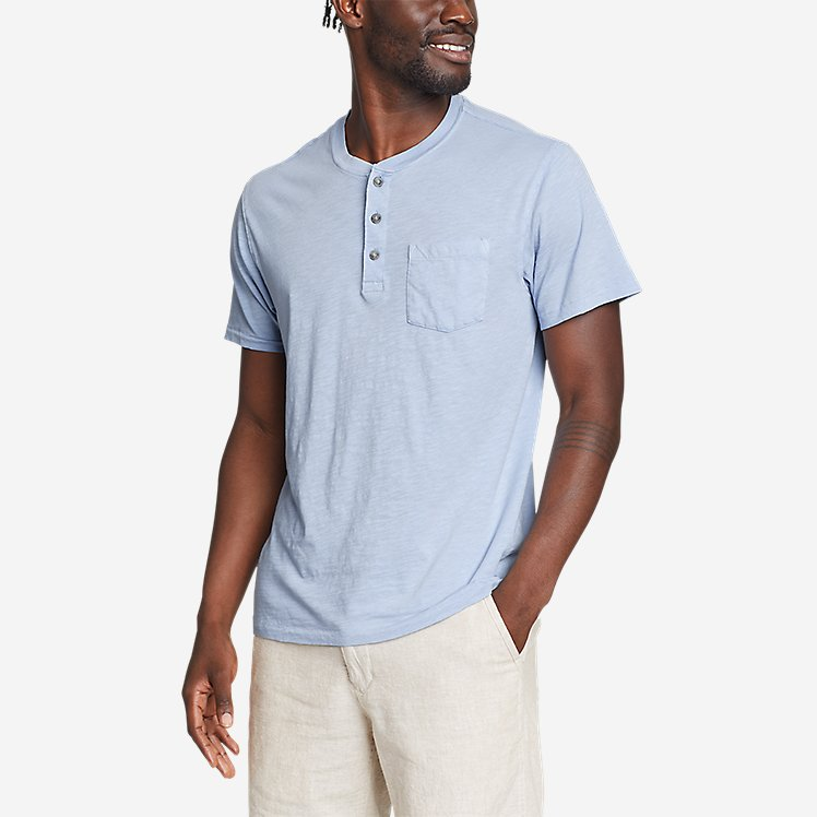 Men's Riverwash Slub Short-Sleeve Henley large version