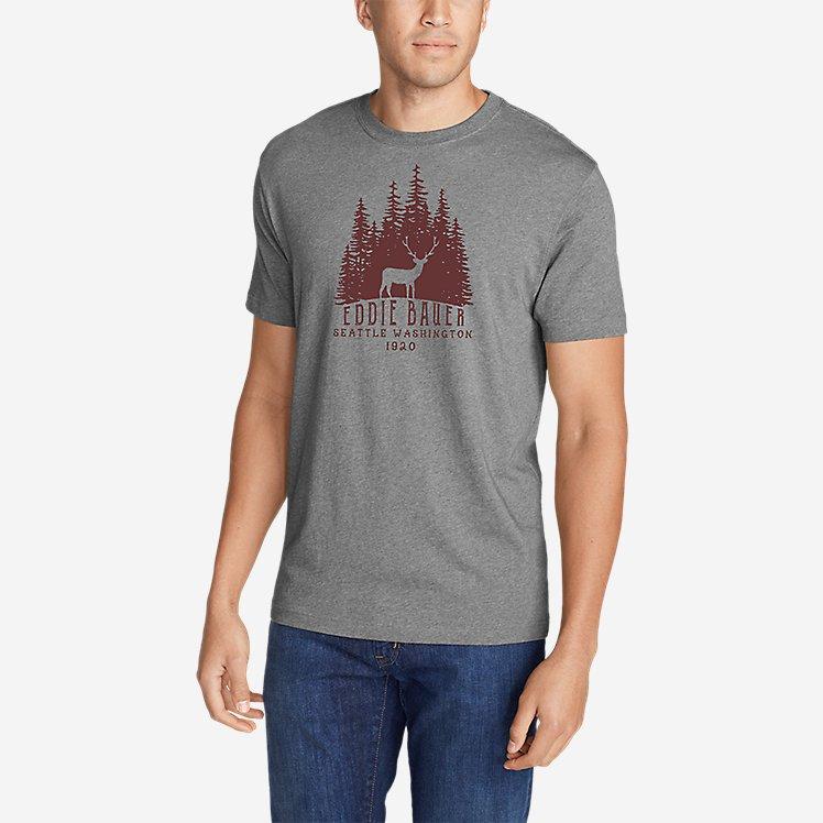 Men's Graphic T-Shirt - Woods Elk large version