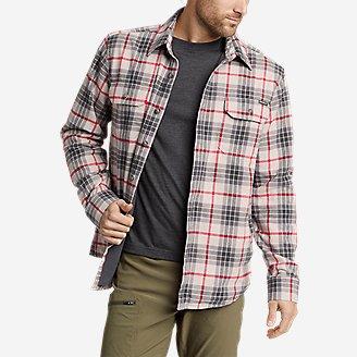 Thumbnail View 1 - Men's Eddie's Field Flannel Fleece-Lined Shirt Jacket