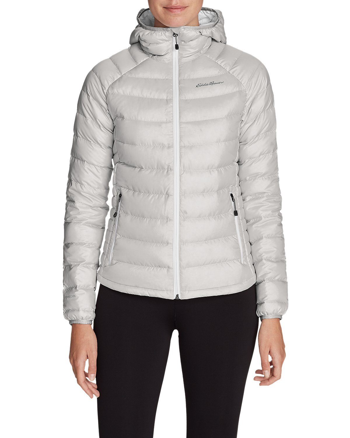 Women's Downlight StormDown Hooded Jacket (Frost Gray)
